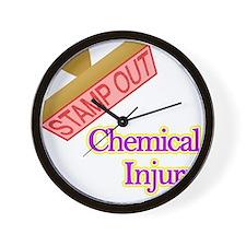 Chemical Injury Wall Clock