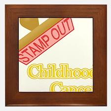 Childhood Cancer Framed Tile
