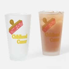 Childhood Cancer Drinking Glass