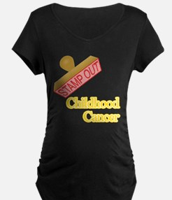 Childhood Cancer Maternity T-Shirt