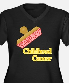 Childhood Cancer Plus Size T-Shirt