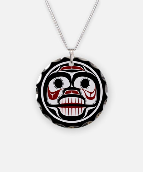 Northwest Pacific coast Haida Weeping skull Neckla