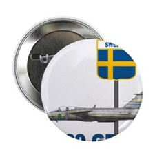 "Unique Sweden flag 2.25"" Button (10 pack)"