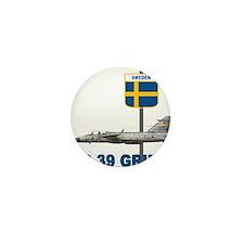 Unique Sweden flag Mini Button (10 pack)