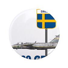 """Unique Sweden flag 3.5"""" Button (100 pack)"""