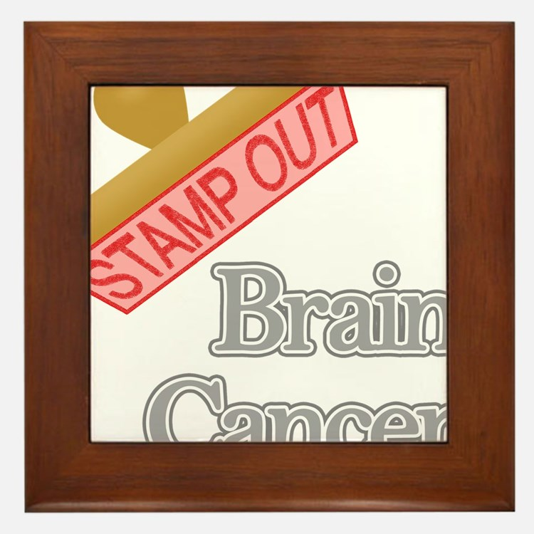 Brain Cancer Framed Tile