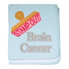 Brain Cancer baby blanket