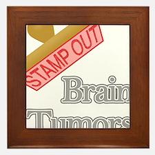 Brain Tumors Framed Tile