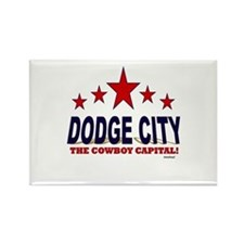 Dodge City The Cowboy Capital Rectangle Magnet