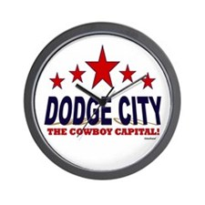 Dodge City The Cowboy Capital Wall Clock