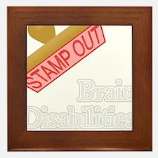 Brain Disabilities Framed Tile