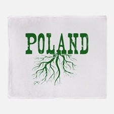 Poland Roots Throw Blanket