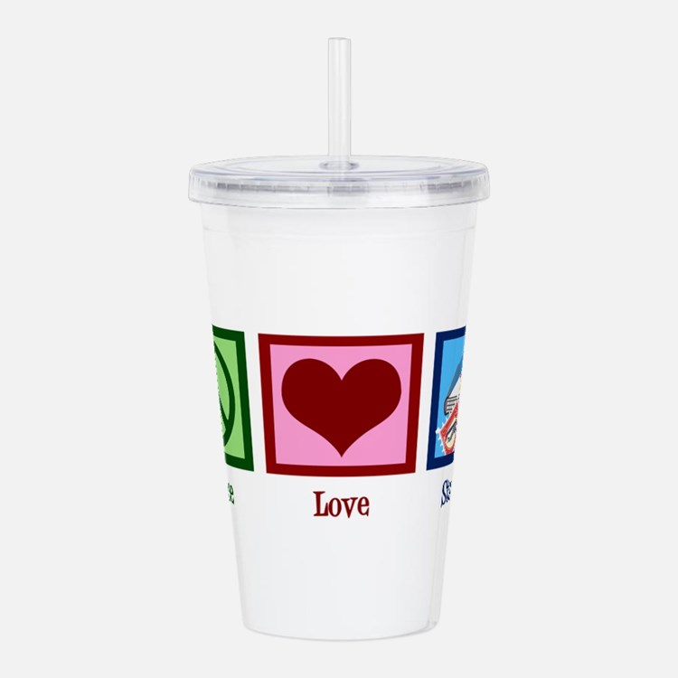 Peace Love Stamps Acrylic Double-wall Tumbler