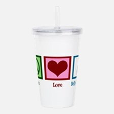 Peace Love Belly Dancing Acrylic Double-wall Tumbl
