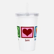 Peace Love Ballooning Acrylic Double-wall Tumbler