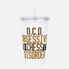 Funny Chess Addict Acrylic Double-wall Tumbler