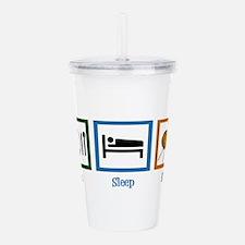 Eat Sleep Knit Acrylic Double-wall Tumbler