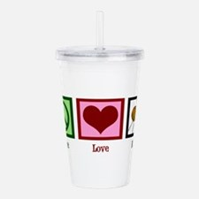 Peace Love Knit Acrylic Double-wall Tumbler