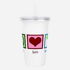 Peace Love Margaritas Acrylic Double-wall Tumbler