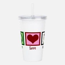 Peace Love Coffee Acrylic Double-wall Tumbler