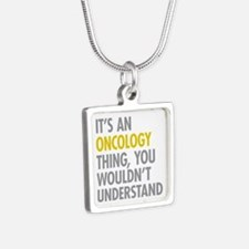 Its An Oncology Thing Silver Square Necklace