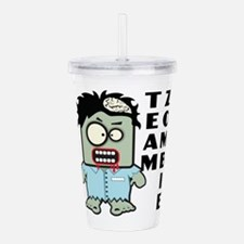 Team Zombie Acrylic Double-wall Tumbler