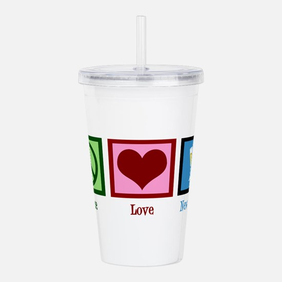 Peace Love New Years Acrylic Double-wall Tumbler
