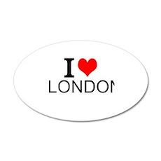 I Love London Wall Decal