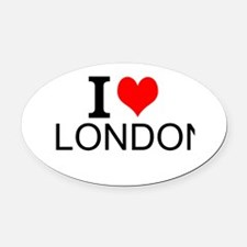 I Love London Oval Car Magnet