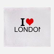I Love London Throw Blanket