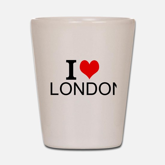 I Love London Shot Glass