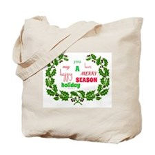 Holiday Message Tote Bag