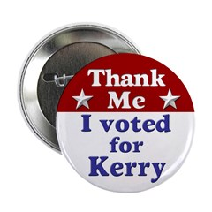 One Hundred I Voted For Kerry Buttons