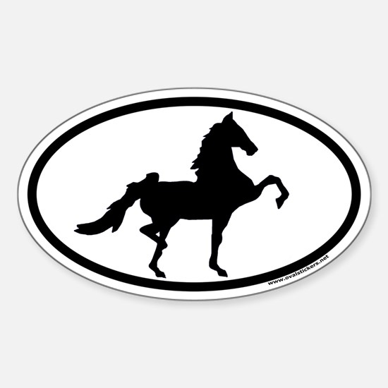 American Saddlebred Euro Oval Bumper Stickers