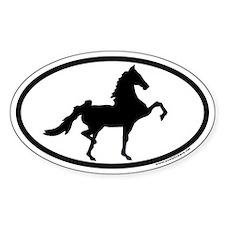 American Saddlebred Euro Oval Decal
