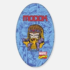 Marvel Comics MODOK Retro Sticker (Oval)