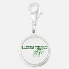 Palestinian Roots Silver Round Charm
