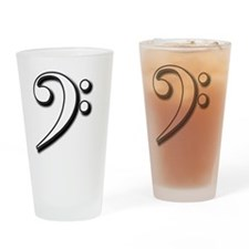 Bass Clef shw Drinking Glass