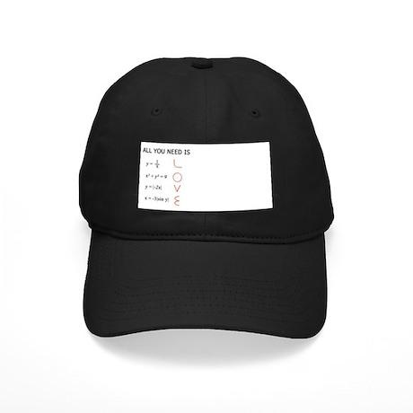 Math Love Black Cap with Patch