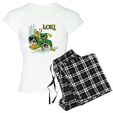 Marvel Comics Loki Retro Pajamas