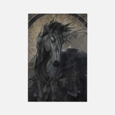 Gothic Friesian Horse Magnets