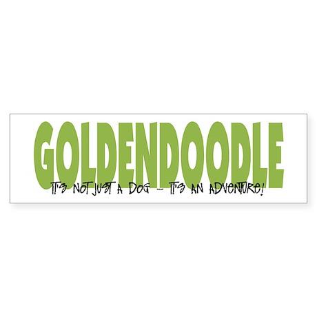 Goldendoodle ADVENTURE Bumper Sticker
