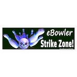 Ebowler Strike Zone Bumper Sticker