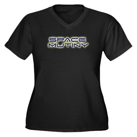 Space Mutiny Women's Plus Size V-Neck Dark T-Shirt