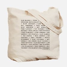 Space Mutiny Names Tote Bag