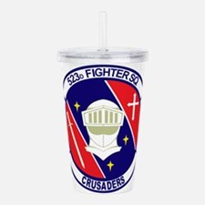523d_fighter_sq.png Acrylic Double-wall Tumbler