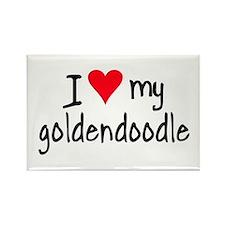 I LOVE MY Goldendoodle Rectangle Magnet