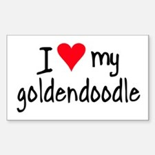 I LOVE MY Goldendoodle Sticker (Rectangle)
