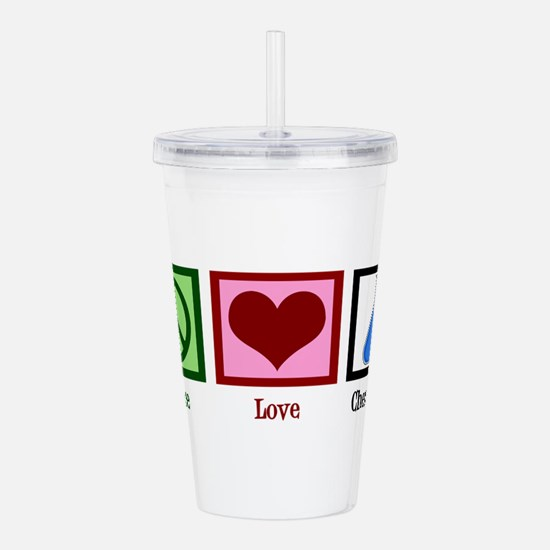 Peace Love Chemistry Acrylic Double-wall Tumbler