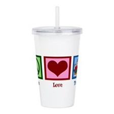 Peace Love Therapy Acrylic Double-wall Tumbler